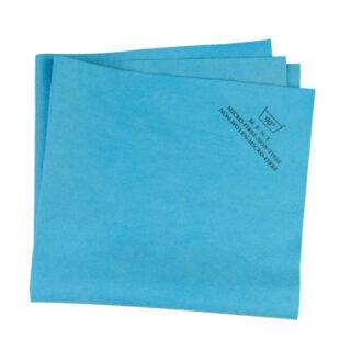 Blue 130 gsm non woven microfiber cloth