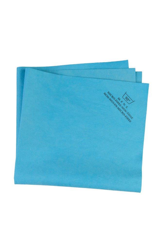 Blue 130 gsm Non-Woven Microfiber Cloth