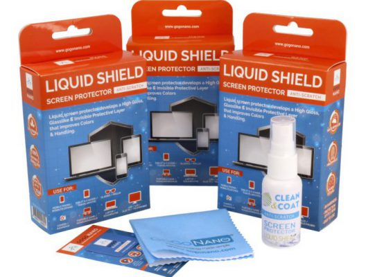 GoGoNano liquid shield screen protector 3 pack new