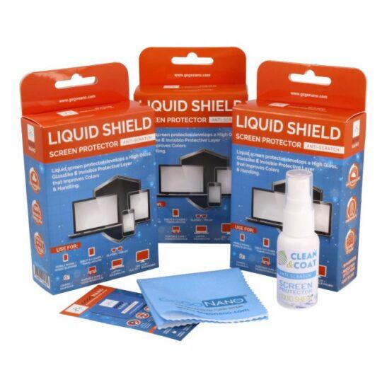 GoGoNano liquid shield screen protector 3 pack new