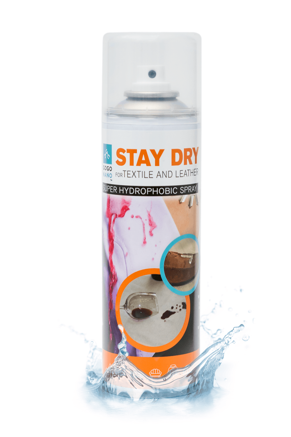 GoGoNano Stay Dry Superhydrophobic Nano Coating For Textile and Leather - GoGoNano™ защита