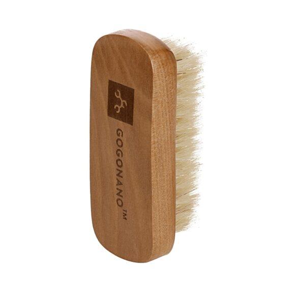 Natural gogonano pig hair wooden shoebrush