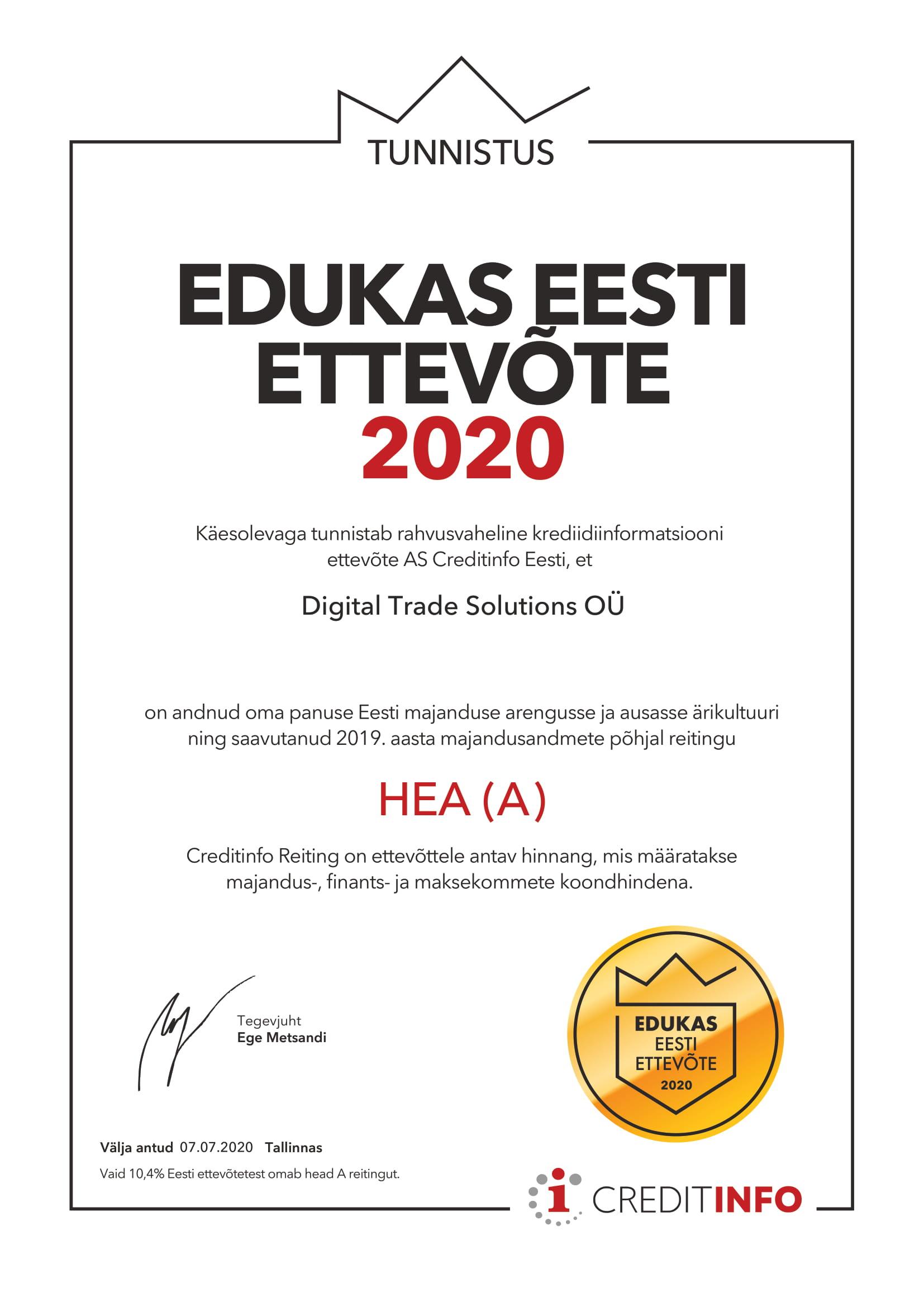 GoGoNano edukas Eesti ettevõte 2020
