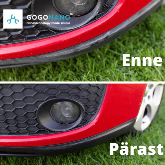 GoGoNano before and after with car nano coating