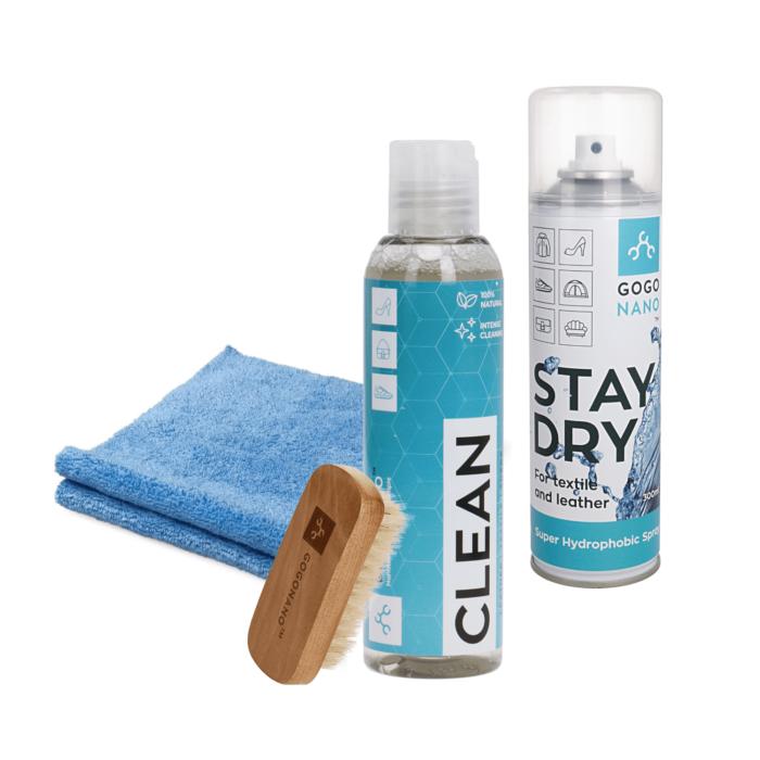 Tekstiilikaitsevahend Stay Dry koos puhastuskomplektiga