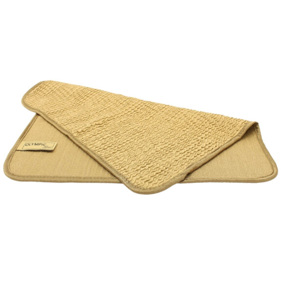 Superior quality golden glass cleaning microfiber cloth