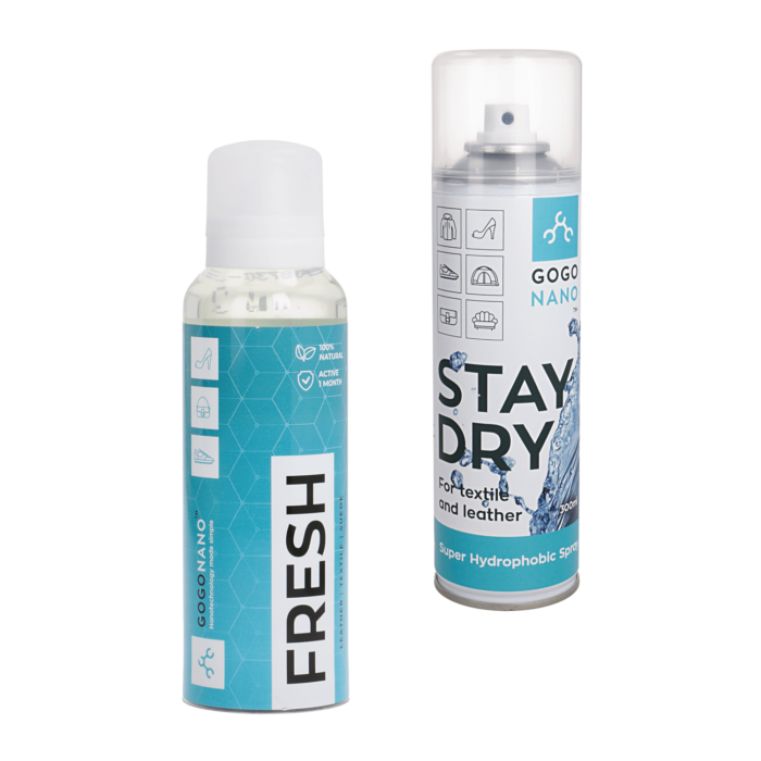 Textile protection spray and shoe freshener