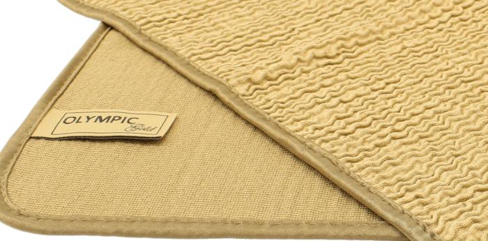 Top quality luxus wave microfiber cloth golden 36x36