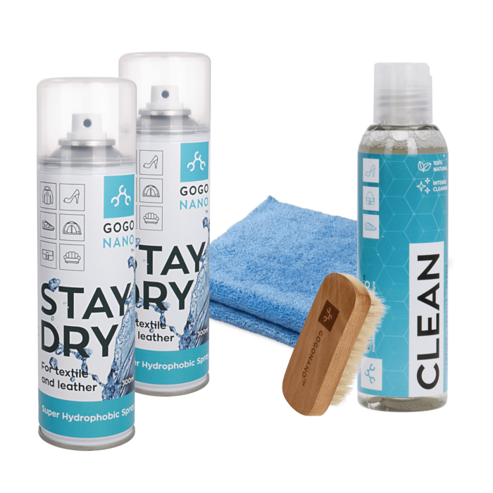 Nano waterproof coating and cleaning family pack